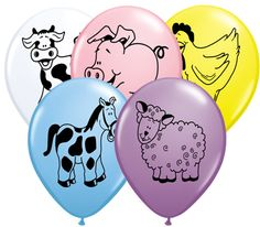 Compliment your Farm Animal Party decor with these fun animal Print balloons! Farm Animal Party, Printed Balloons, Balloon Animals, Latex Balloons, Farm Animals, Biodegradable Products, Color Mixing, Compliments, Prints