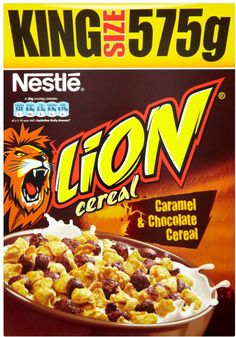 Nestle Lion Cereal for sale Chocolate Cereal, Oat Cereal, Cereal Bars, Chocolate Caramels, Breakfast Cereal, Gourmet Recipes, Whole Food Recipes, Gluten Free Muesli, Cereal Packaging