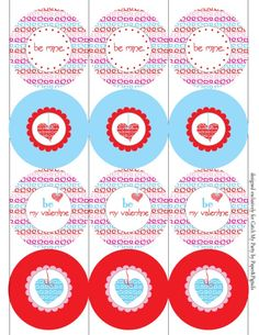 Free Valentine's Day printable party circles