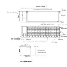 Schéma de construction piscine