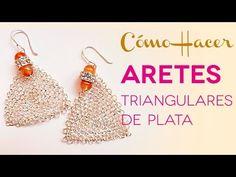 Como Hacer Aretes Triangulares de Plata Tejidos en Punto Peruano con Detalle de Terminacion - YouTube