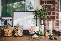Love the framed sign!  Do similar for the entrance or dessert table