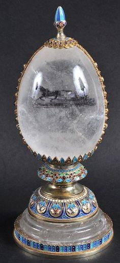 Russian rock crystal and enamel egg. ▓█▓▒░▒▓█▓▒░▒▓█▓▒░▒▓█▓ Gᴀʙʏ﹣Fᴇ́ᴇʀɪᴇ ﹕ Bɪᴊᴏᴜx ᴀ̀ ᴛʜᴇ̀ᴍᴇs ☞ http://www.alittlemarket.com/boutique/gaby_feerie-132444.html ▓█▓▒░▒▓█▓▒░▒▓█▓▒░▒▓█▓