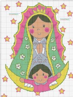 Virgen De Guadalupe Plis En Punto De Cruz Car Tuning
