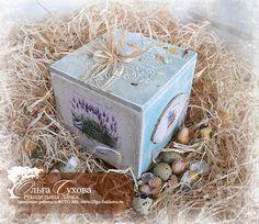 Рукодельная лавка - Авторские работы - короб для сыпучих и специй - Lavender - Provence style