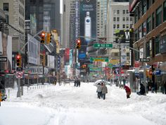 West 52St under the snow #nyc - New York City Feelings