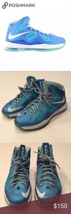 53aa19dfe82d0 Nike Lebron 10+ Blue Diamond AUTHENTIC Great Condition Nike Lebron 10+ Blue  Diamond.