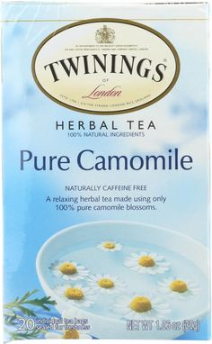Twinings Pure Camomile Herbal Tea 20 Tea Bags box *** You can find more details by visiting the image link. (This is an affiliate link and I receive a commission for the sales) Twinings Tea, Peppermint Tea, Types Of Tea, Tea Benefits, Chamomile Tea, Gourmet Gifts, Best Tea, Herbalism, Pure Products