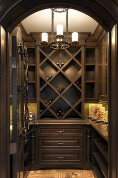 Copyright Astoria Custom Homes Ltd. Caves, Wine Cellar Basement, Home Wine Cellars, Wine Cellar Design, Wine House, Cigar Room, Wine Cabinets, Wine Fridge, Wine Refrigerator