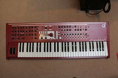 MATRIXSYNTH: Red Waldorf Q+ Keyboard Synthesizer with Q-card an...