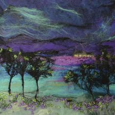 The Moy Mackay Gallery is situated in the heart of the beautiful town of Peebles, set in the rolling hills … Read Wet Felting, Needle Felting, Felt Pictures, Felt Embroidery, Wool Art, Thread Painting, Textile Artists, Felt Art, Fabric Art