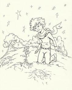 картинки раскраски к маленькому принцу изучения