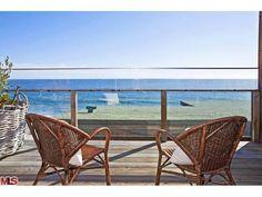 Prefect view of Malibu ocean over the balcony