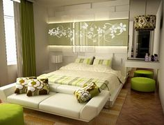 Modern Bedroom Green master bedrooms | master bedroom wallpaper decoration. modern