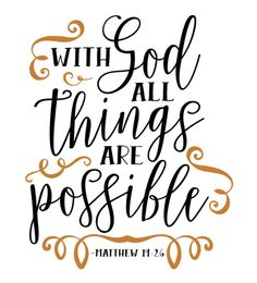 With God All Things Are Possible - HTV Vinyl Shirt by HappyMonogramming on Etsy