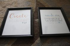 2 free printable bible verse art  pictures - for my laundry room!  Been googling something for my laundry room walls and can't find anything just right.  I love it when you stumble upon just the right thing! ~Nicole