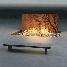 I LOVE THIS...would love too have a fire element meditation space and it would keep us warm