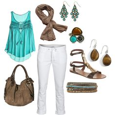 Weekend in Sedona: Casual chic in white, turquoise, and brown. Wardrobe Planner, Capsule Wardrobe, Southwestern Style, Get Dressed, Casual Chic, Style Guides, Style Me, Sedona Arizona, Turquoise