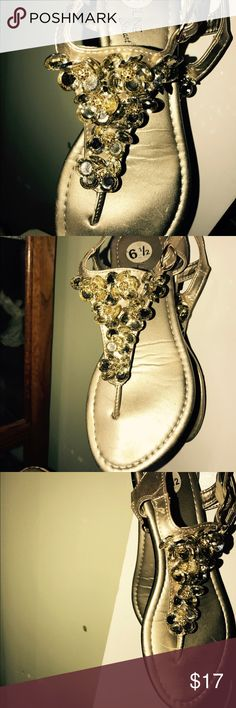 Ad Line sandals very blingy gold cute never worn Ad Line sandals very blingy with gold and silver sz6.5 never worn cute cute Ad Line Shoes Sandals