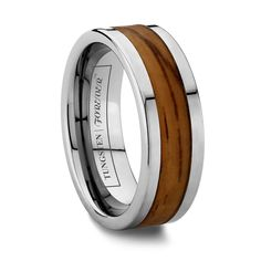 The ATWOOD features the warmth of all natural wood accompanied by brilliant Tunsten Wooden Wedding Bands, Wedding Rings, Tungsten Carbide Rings, Tungsten Wedding Bands, Unique Weddings, Wedding Unique, Wood Rings, Unique Rings, Natural Wood