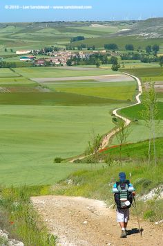 Spain's Meseta on the Way of St James, outside Burgos