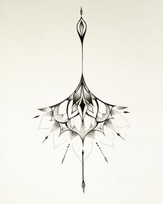 Sternum tattoo idea