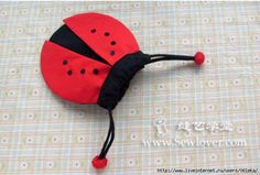 Fabric Crafts, Sewing Crafts, Sewing Projects, Pdf Sewing Patterns, Sewing Tutorials, Ladybug Crafts, Fabric Bags, Kids Bags, Cute Bags