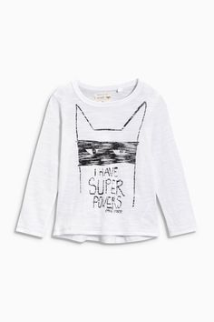 Buy White Super Powers Slogan T-Shirt from the Next UK online shop Latest Fashion For Women, Kids Fashion, Next Uk, Uk Online, Super Powers, Shirts For Girls, Slogan, Printed Shirts, Graphic Sweatshirt
