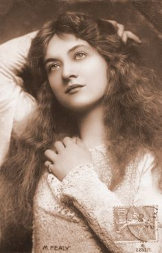 The beautiful American actress Maude Fealy who made her film debut in 1911.