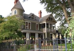 two story porch with pitch