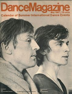 Photo by Jack Mitchell. Erik Bruhn with Rudolf Nureyev, May