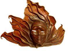 Leather mask, Venetian, 20th century