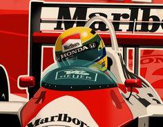 Ayrton Senna - F1 1988 on Behance