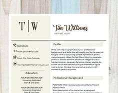 Creative Resume Template, CV Design, Resume Template Word, CV , Cover Letter, Instant Download + Instructions