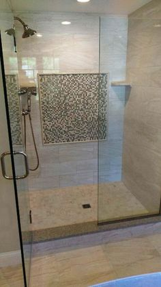 Master Bathroom Shower: Shower Floor Is Motion X Mosaic Ivory Shower Walls  Are Motion X Ivory Shower Wall Deco Is Anatolia X Square Color Spa And MSI X  ...