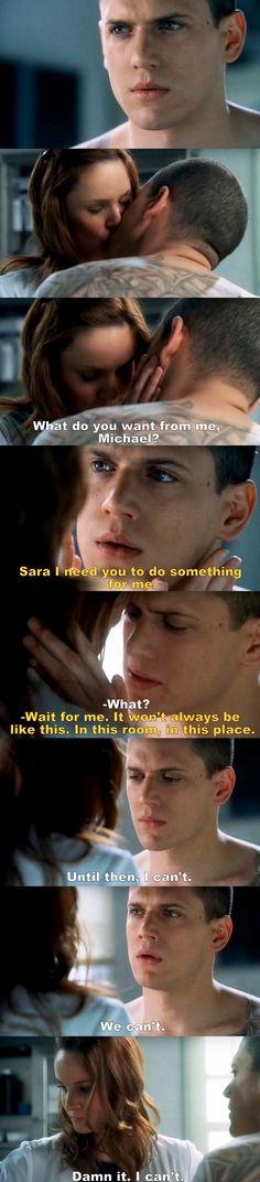 Prison Break S01E19 Michael & Sara.
