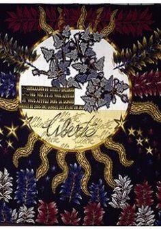 """Jean Lurçat (1892-1966) - Galerie des Gobelins """"Résistance"""" (1954). Tapisserie d'Aubusson. Photo © Mobilier national Le questionnement sur la paix et la liberté est au cœur des œuvres de Paul Eluard et de Jean Lurçat."""