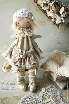Купить Текстильная кукла-ангел Аленка. Бохо стиль. - бледно-розовый, розовый, ангел