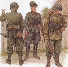 Tyske soldater og officer (general) et sted i Rusland Military Weapons, Military Art, Military History, Ww2 Uniforms, German Uniforms, Military Uniforms, German Soldiers Ww2, German Army, Luftwaffe