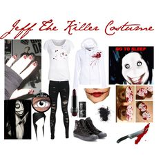 """Jeff The Killer Costume"" by laurakhamner on Polyvore"