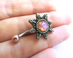 Chevron Belly Button Ring Jewelry Tribal by AzeetaDesigns on Etsy