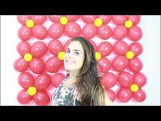 Como fazer uma parede de balões simples - YouTube