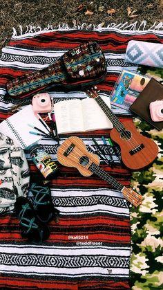 #summer #picnic #ukulele #journaling #photography #polaroid #sunshine #aesthetic