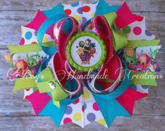 Monster high inspired boutique hair bow by YHCbowtique on Etsy