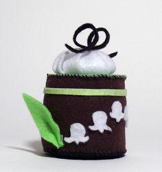 LilyoftheValley Mini Felt Cake Pincushions by PetitePommeFelt, $10.00