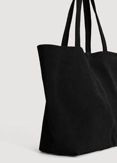 Kožená kabelka shopper - f foKůže Žena   MANGO Česká republika