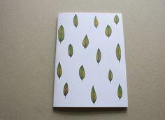 Blätter Regen - Notizheft A5/A6 von Irina Mmurs Things auf DaWanda.com