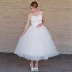 Bonnie tea length tulle wedding dress from Ruffled shop