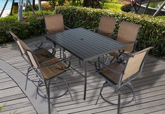Pebble Lane Living is a premiere online patio furniture and outdoor living company selling direct from the manufacturer to provide high quality products at amazing prices. Patio Bar Table, Outdoor Patio Bar Sets, Patio Dining, Dining Set, Outdoor Living, Outdoor Furniture Sets, Outdoor Decor, Bar Stool Seats, Bar Stools