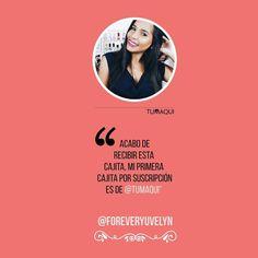 """@Foreveryuvelyn se unió al movimiento #tumaqui y conoció una nueva experiencia de comprar maquillaje. - """"Acabo de recibir esta cajita mi primera cajita por suscripción es de @tumaqui"""". - #experienciatumaqui  #makeuplover  #lifestyle"""